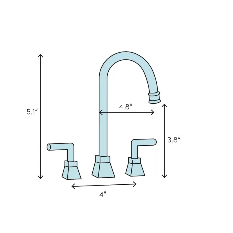 linden widespread bathroom faucet with drain assembly and diamond seal technology