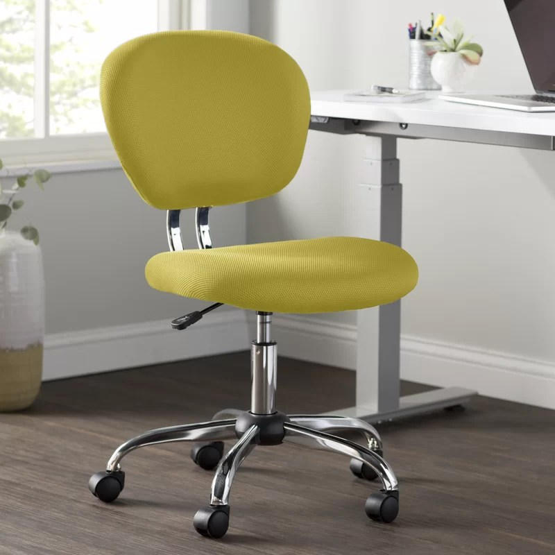yellow office chair design process wayfair basics reviews
