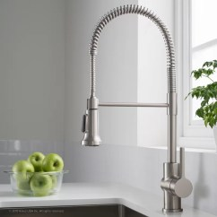 Kraus Kitchen Faucet Ada Cabinets Britt Commercial Pull Down Single Handle With Dual Function