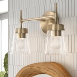 Foundstone Russell 2 Light Dimmable Vanity Light Reviews Wayfair