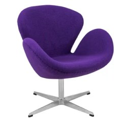 Purple Swivel Chair Gaming For Big Guys Chairs Wayfair Quickview