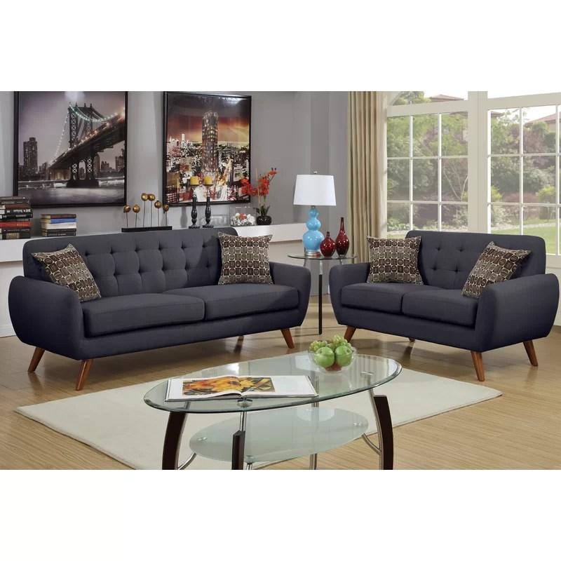 2 piece living room set red and black decorating ideas langley street wooten reviews wayfair