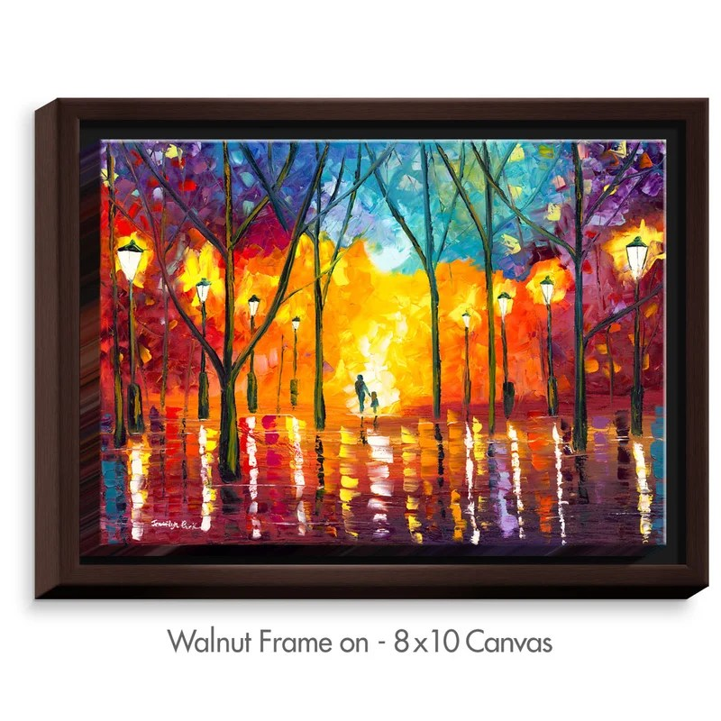 Guiding Light by Jessilyn Park Painting Print on Wrapped Framed Canvas Size: 31.75 H x 41.75 W x 1.75 D Frame Color: Walnut