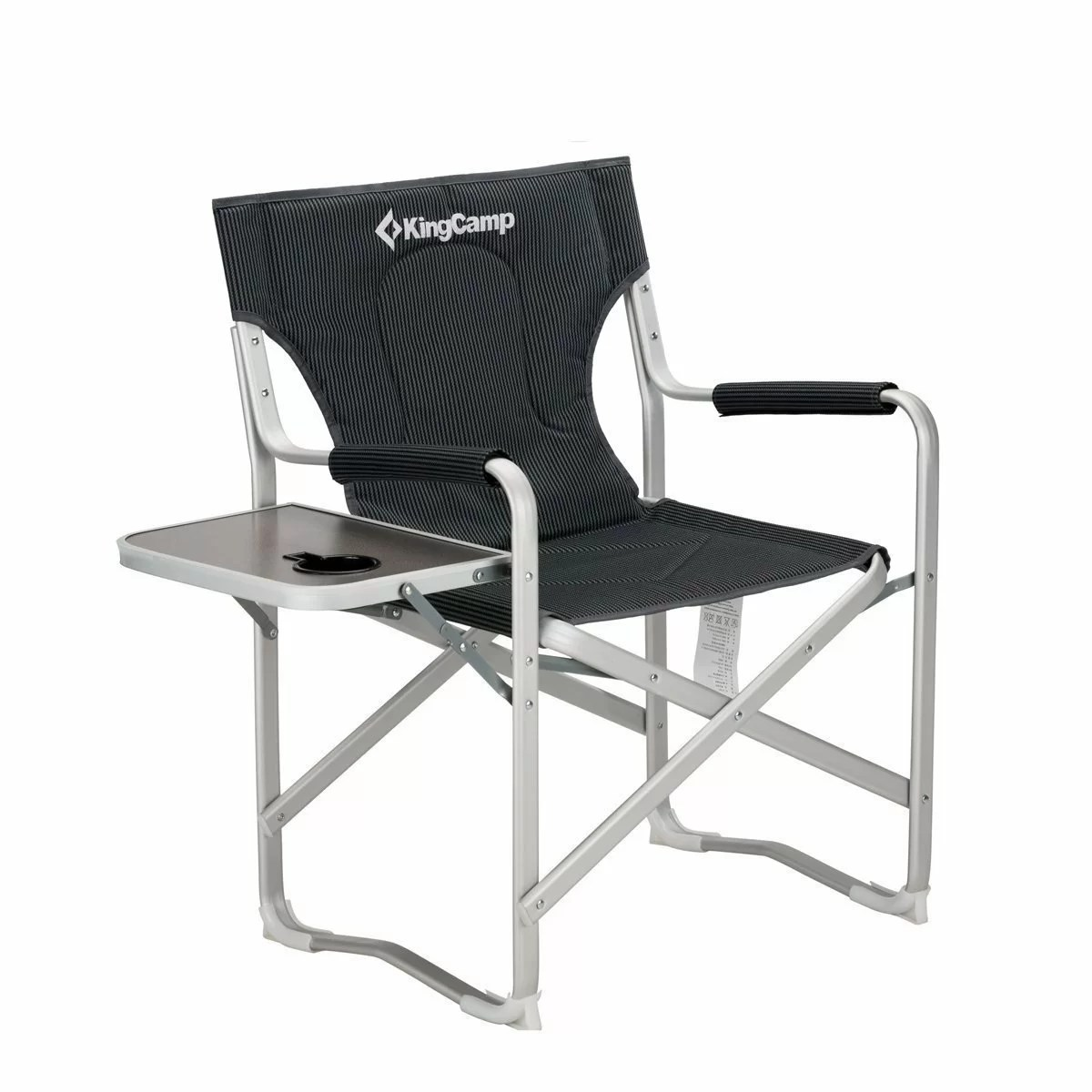 camping chairs with side table tommy bahama kingcamp portable heavy duty folding reclining chair armrest and cup holder wayfair