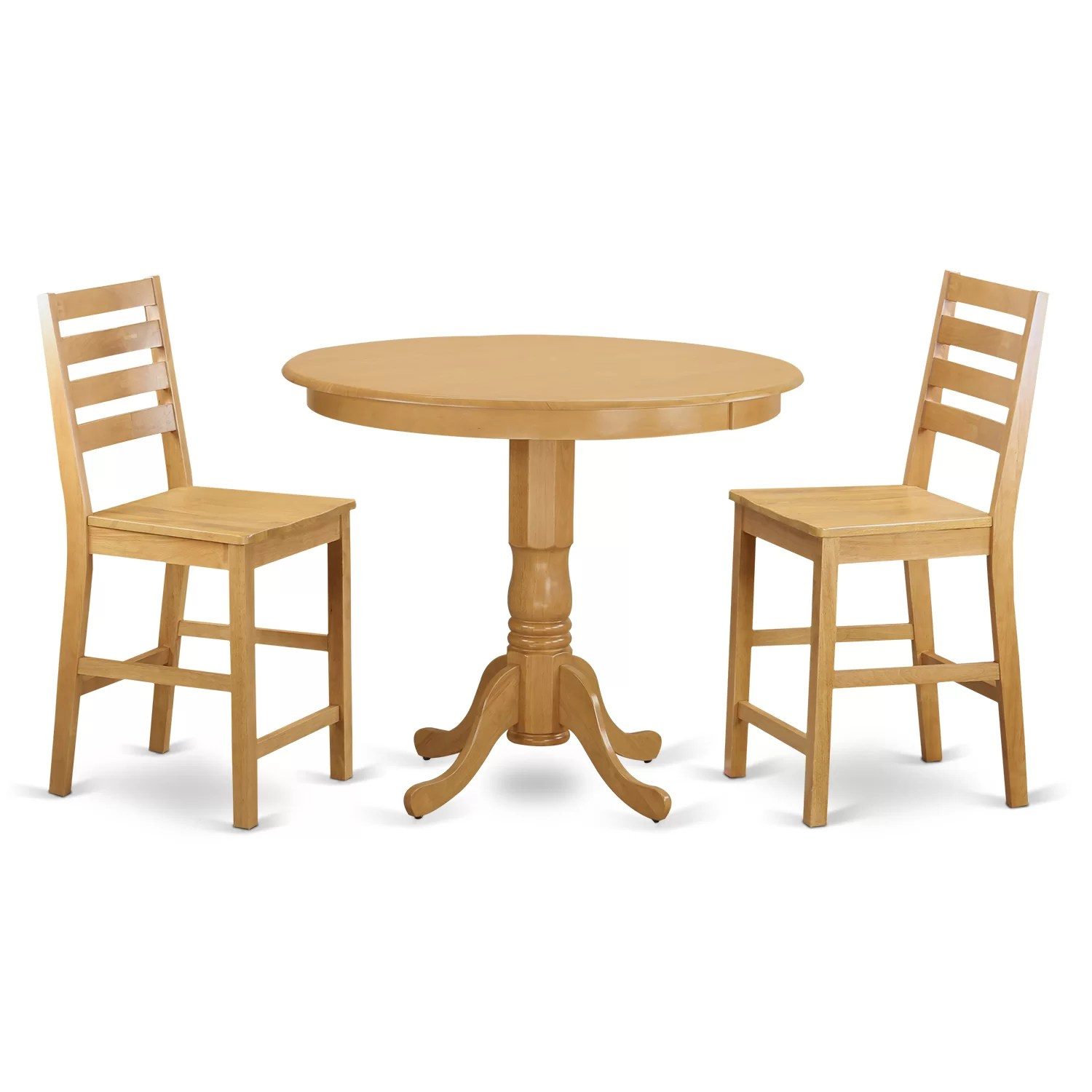 pub table and chairs 3 piece set 2 gaming chair review wooden importers trenton counter height wayfair