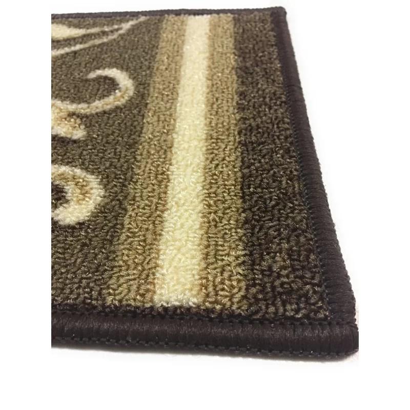 Fleur De Lis Living Weinert Non Slip Carpet Stair Tread Reviews | 7 Inch Carpet Stair Treads | Indoor Outdoor | Non Slip | Slip Resistant | Rug Styles | Tread Covers