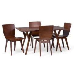 Bent Wood Chair Folding Garden Chairs Modern Contemporary Allmodern Slye Dark Walnut 5 Piece Dining Set