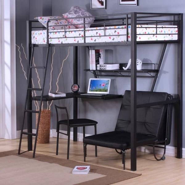 ACME Furniture Senon Loft Bed with Desk  Reviews  Wayfair