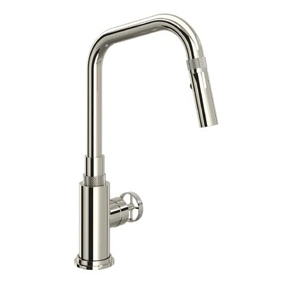 luxury polished nickel kitchen faucets