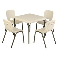 Lifetime Chairs And Tables Modern Accent Childrens 5 Piece Square Writing Table Chair Set Reviews Wayfair