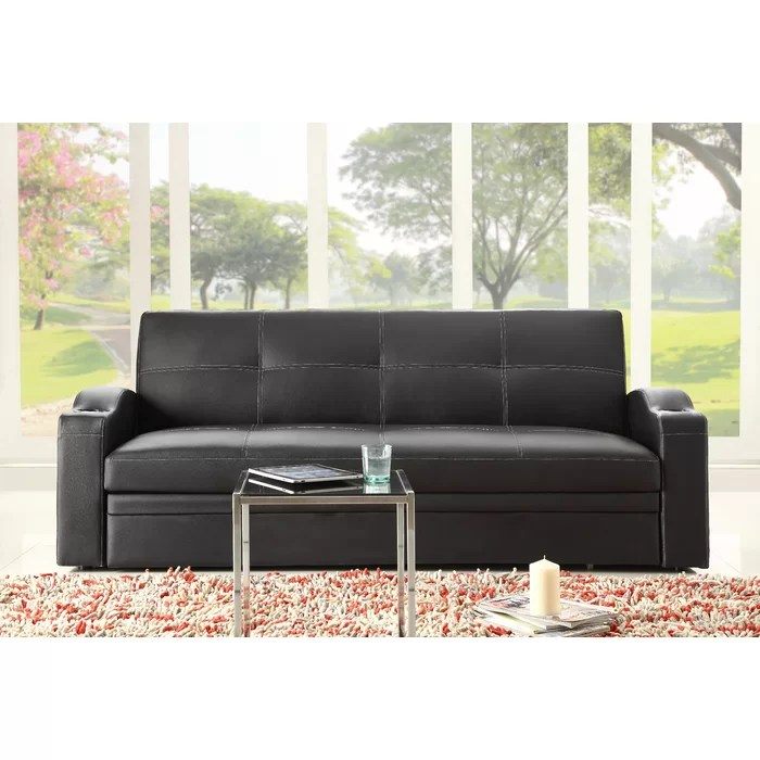 woodhaven living room furniture oak hill novak sleeper sofa reviews wayfair ca