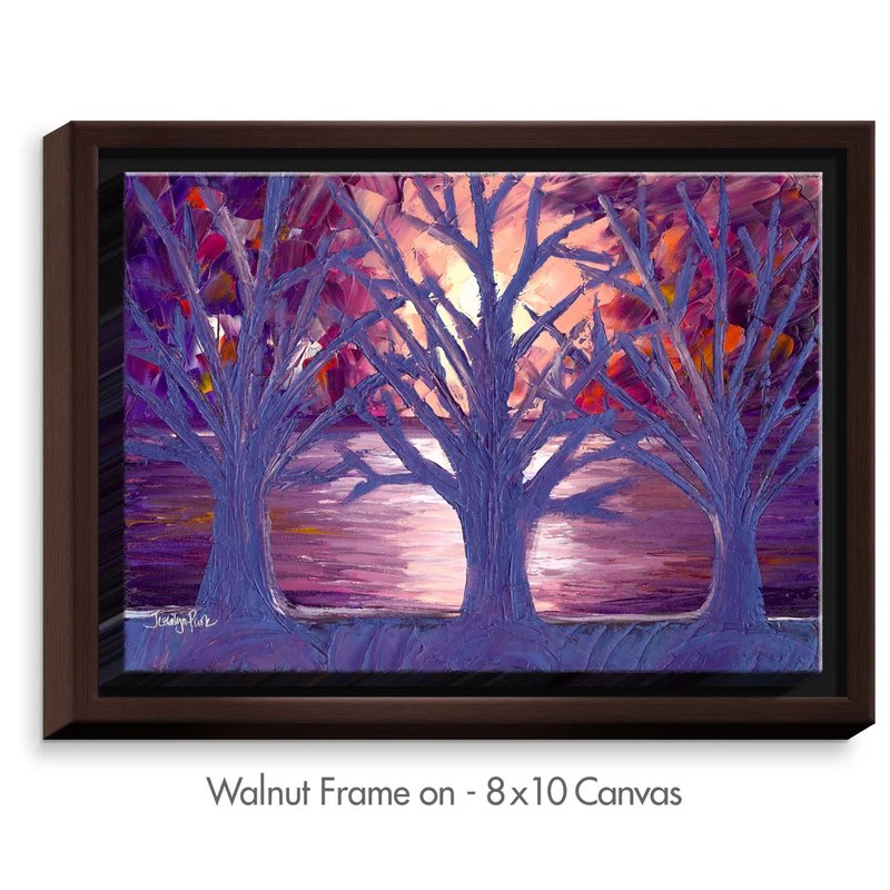 Moonlight Whispers by Jessilyn Park Painting Print on Wrapped Framed Canvas Size: 31.75 H x 41.75 W x 1.75 D Frame Color: Walnut