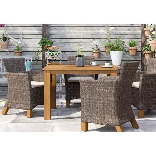 4-Sitzer Gartengarnitur HASTING von GARTEN LIVING Polyrattan/Akazie