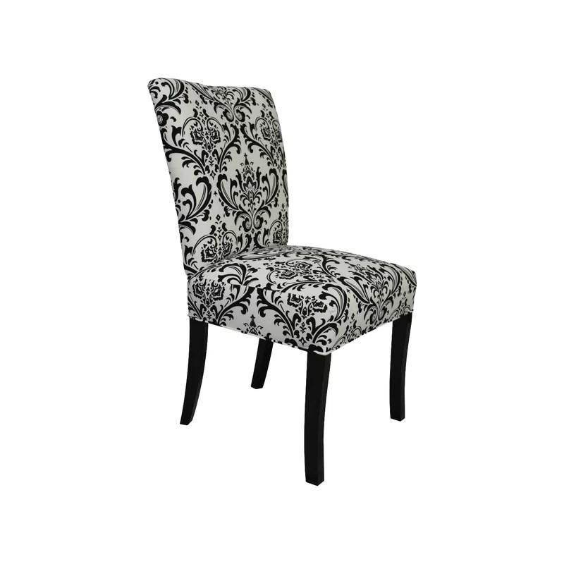 black parsons chair wingback covers nz sole designs julia reviews wayfair