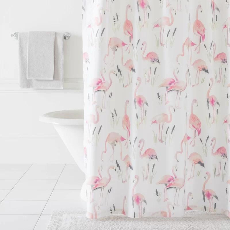 flamingos single shower curtain