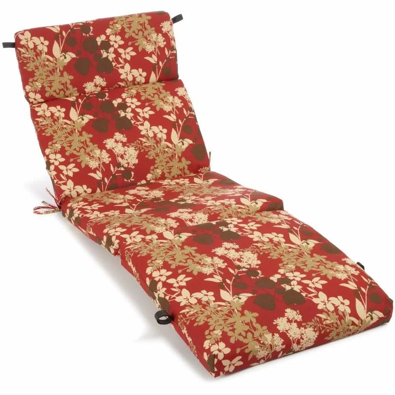 Montfleuri Indoor/Outdoor Chaise Lounge Cushion