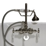 Cambridge Plumbing Triple Handle Deck Mounted Clawfoot Tub Faucet With Diverter And Handshower Reviews Wayfair