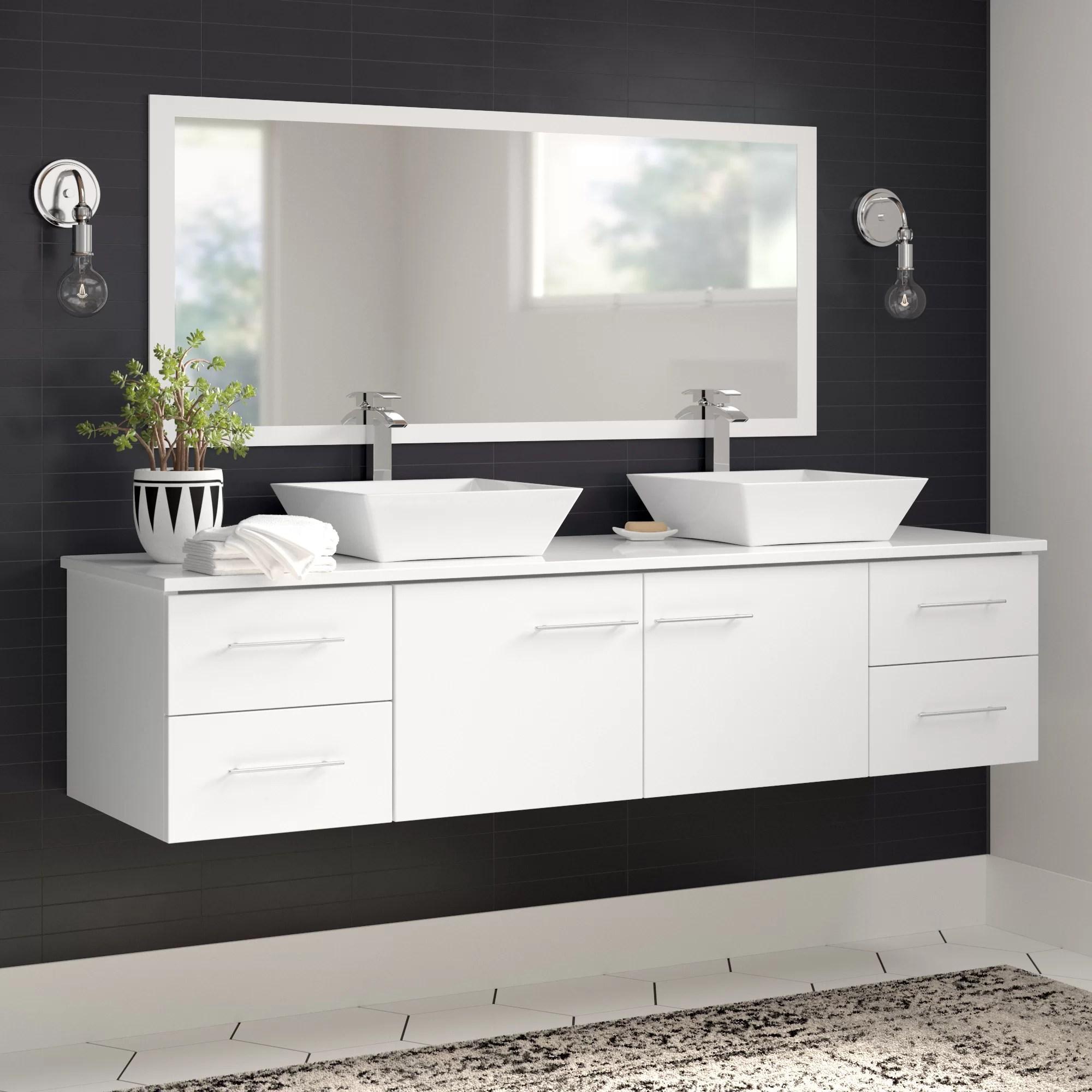 Lukes 72 Double Bathroom Vanity Set Reviews Allmodern
