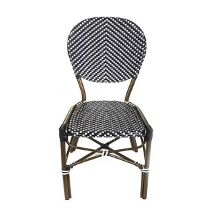 french cafe chairs portable folding high chair bistro wayfair stacking patio dining