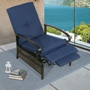 pallaton recliner patio chair with cushions