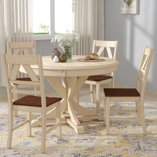 round kitchen table and chairs set all mesh office chair 5 piece dining room sets you ll love wayfair sandersville