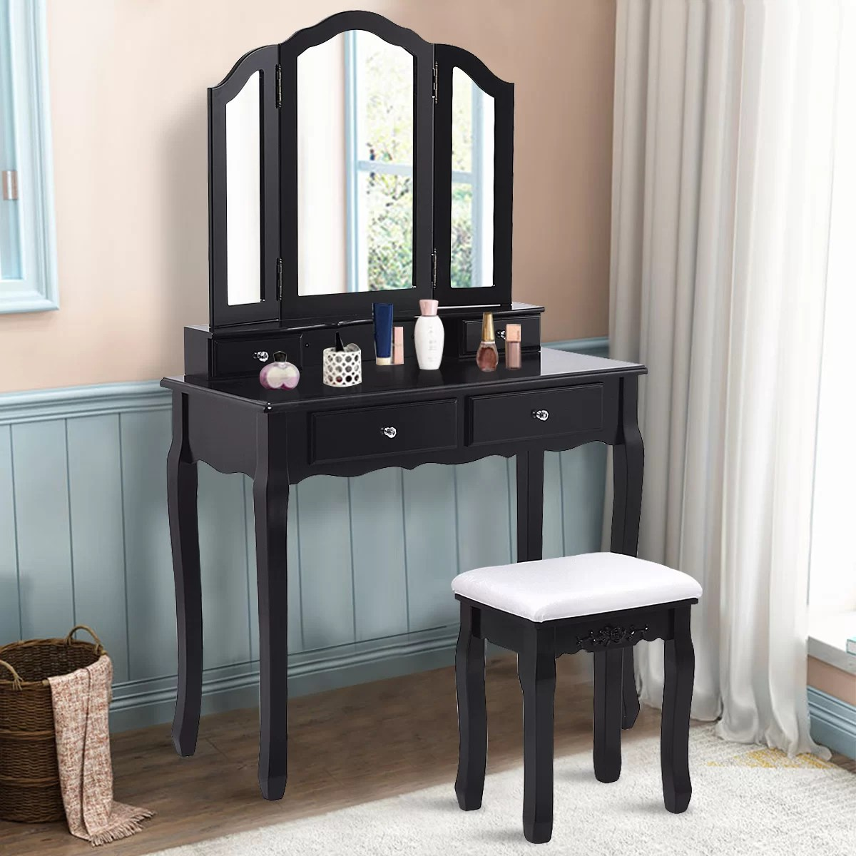 winston porter konieczny makeup vanity set with mirror reviews wayfair ca
