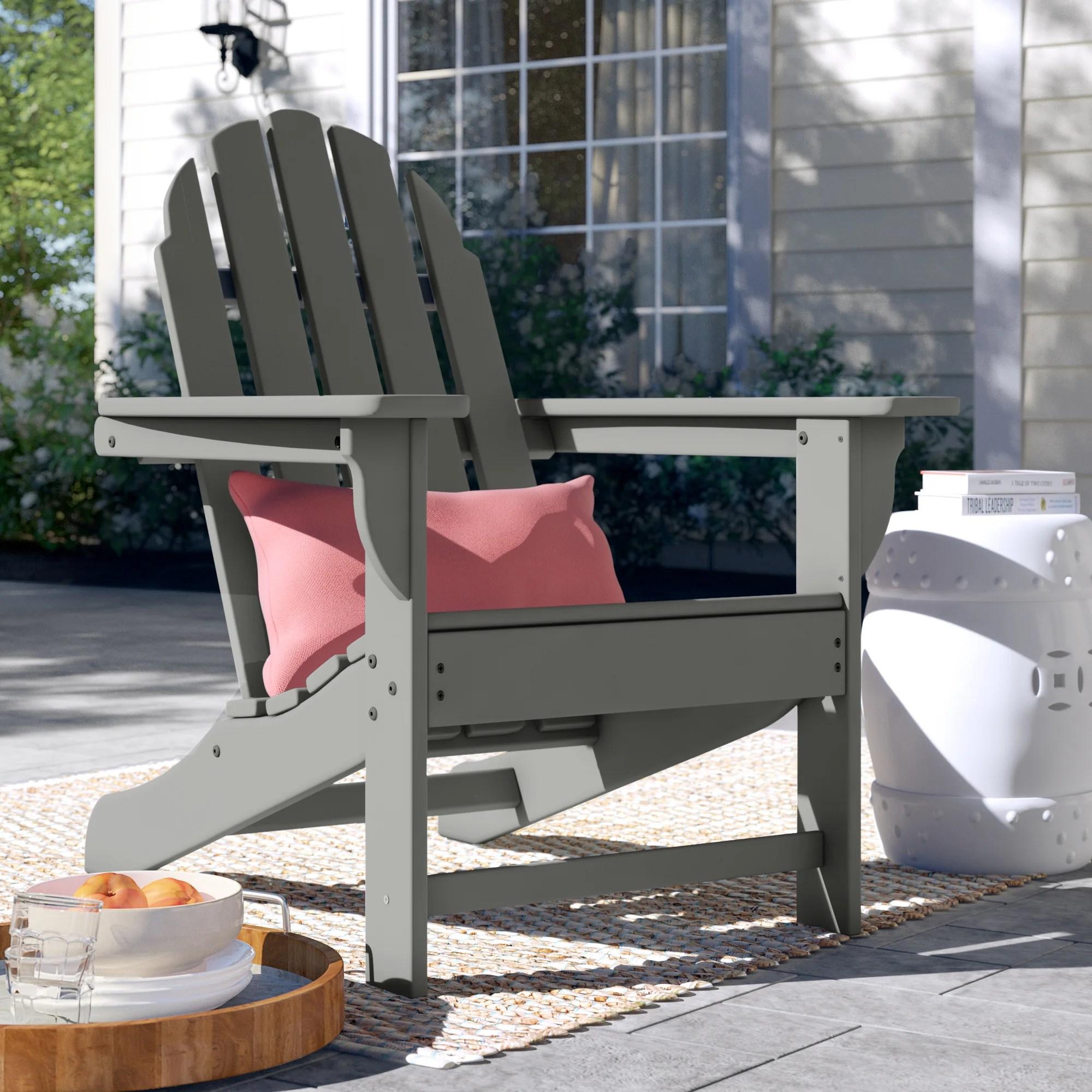 polywood traditional plastic adirondack chair