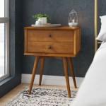 Allmodern Grady 2 Drawer Solid Wood Nightstand Reviews Wayfair