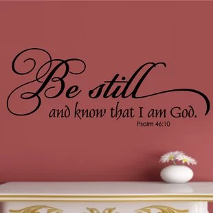 wall stickers living room paint colour for ideas wayfair be still and know that i am god religious christian bible verse sticker