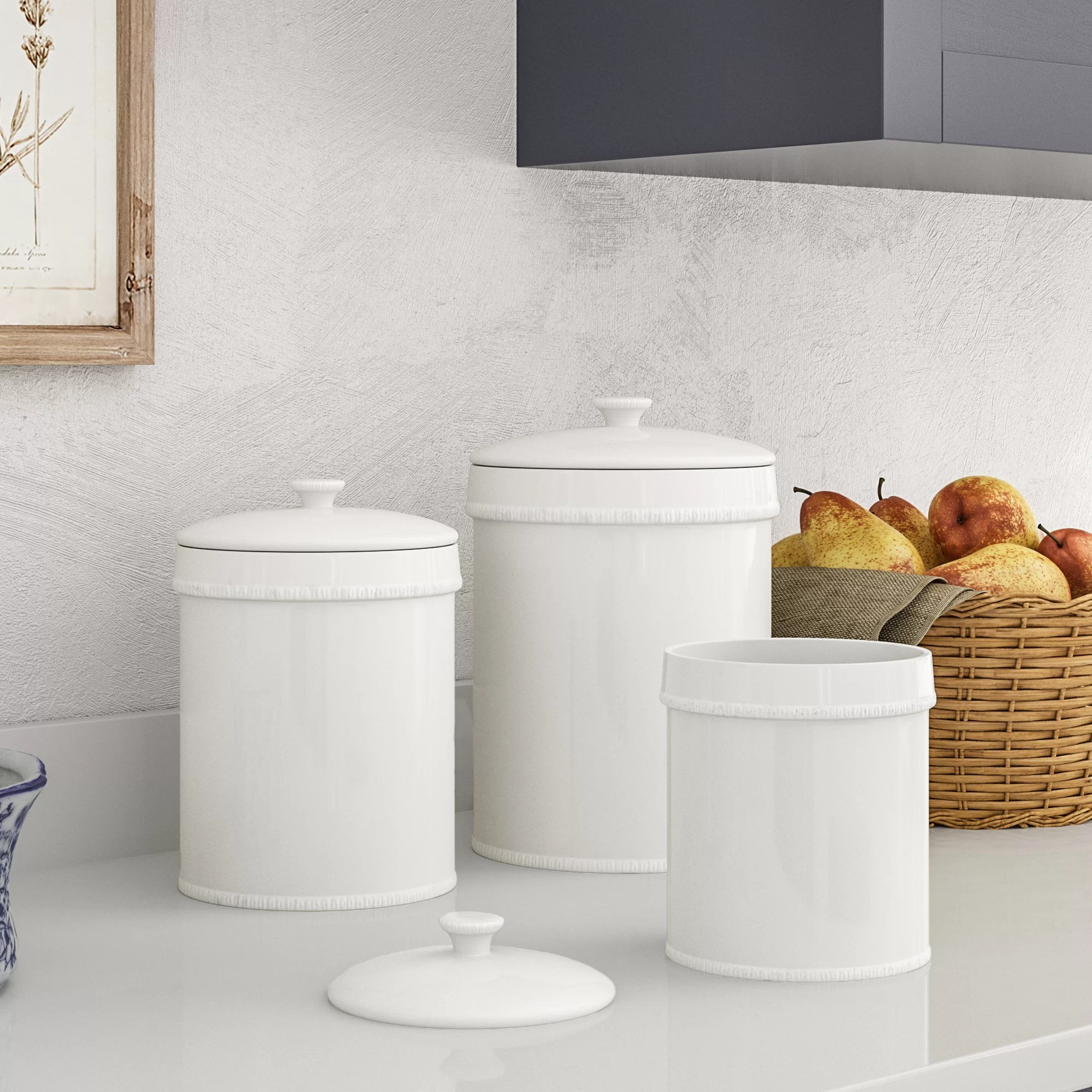 3 piece kitchen set the orleans island birch lane heritage bianca canister reviews
