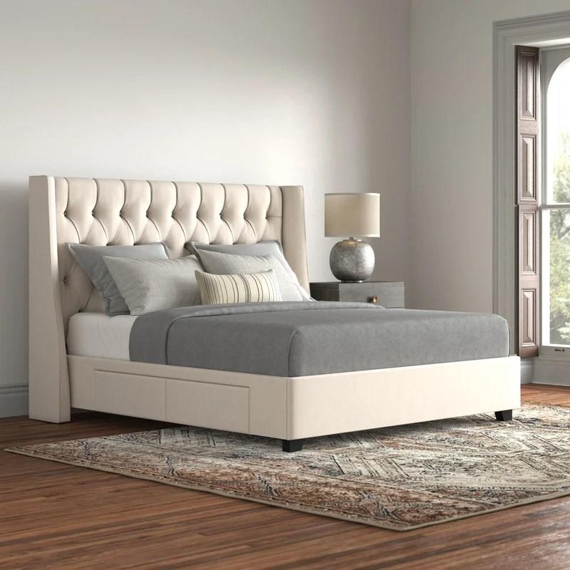 larchmont upholstered storage platform bed