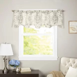 kitchen valance wire rack valances birch lane terrence curtain window