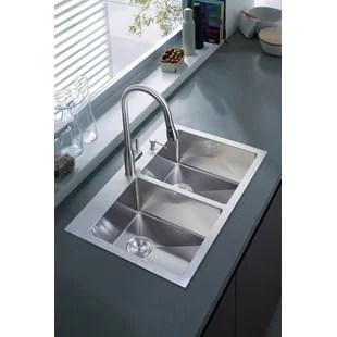 mobile home kitchen sink vintage accessories wayfair 33 x 22 overmount