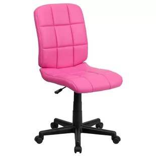 desk chair pink french louis chairs for sale office you ll love wayfair quickview