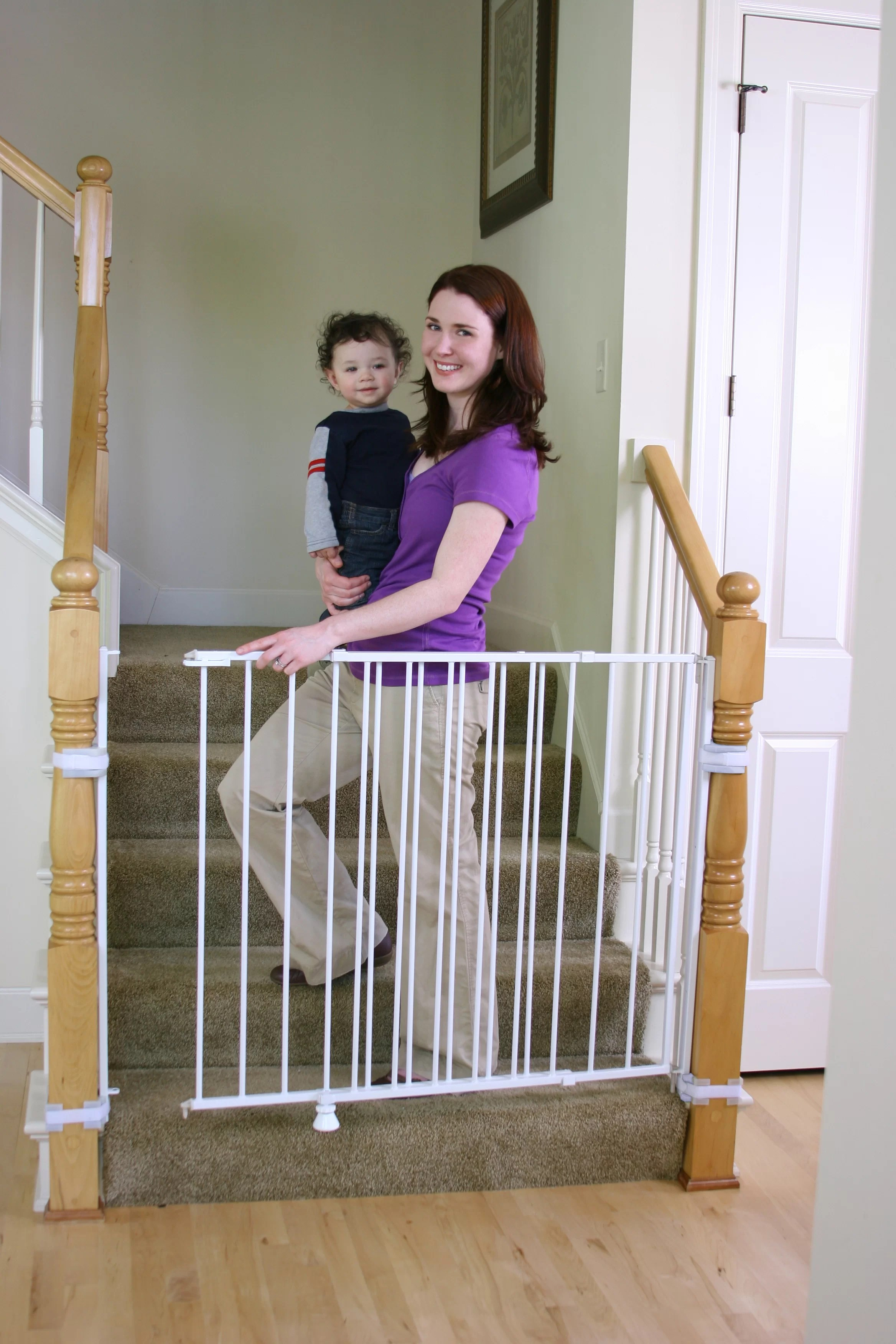 Baby Gate With Only One Wall : Regalo, Stairs, Extra, Safety, Reviews, Wayfair