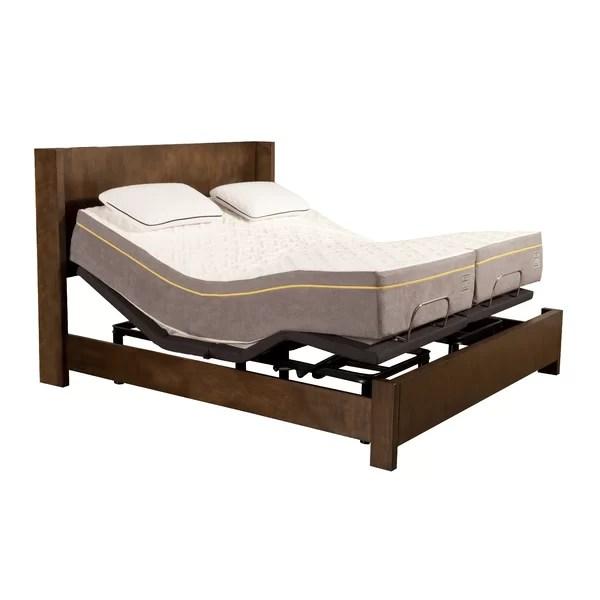Alwyn Home 12 Memory Foam Mattres1500 Adjule Base Reviews Wayfair
