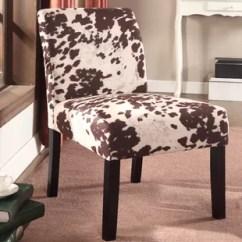 Cowhide Print Accent Chair Banquet Covers Singapore Animal Chairs You Ll Love Wayfair Duarte Slipper Set Of 2