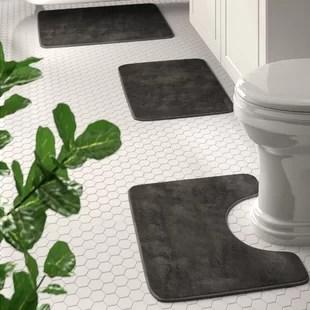 blum non slip 3 piece bath rug set