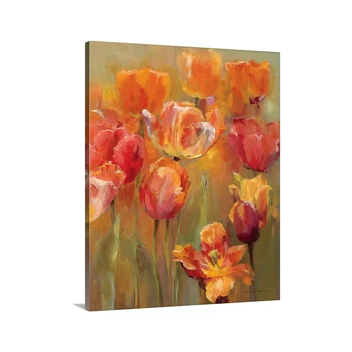 great big canvas tulips