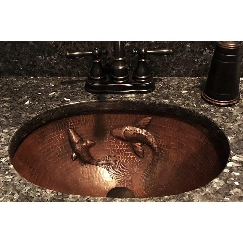 hammered metal oval undermount bathroom sink