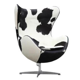 black and white cowhide chair grey material office wayfair quickview