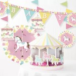 Carousel Baby Shower Decoration Kit