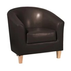 Tub Chair Brown Leather Twin Sleeper Bed Real Chairs Wayfair Co Uk Quickview Black