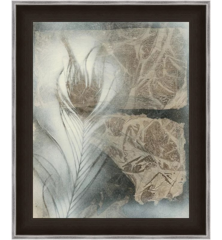 Trends Feather and Stone II Framed Graphic Art