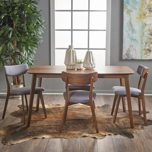 solid oak dining table and chairs belava pedicure chair modern contemporary room sets allmodern