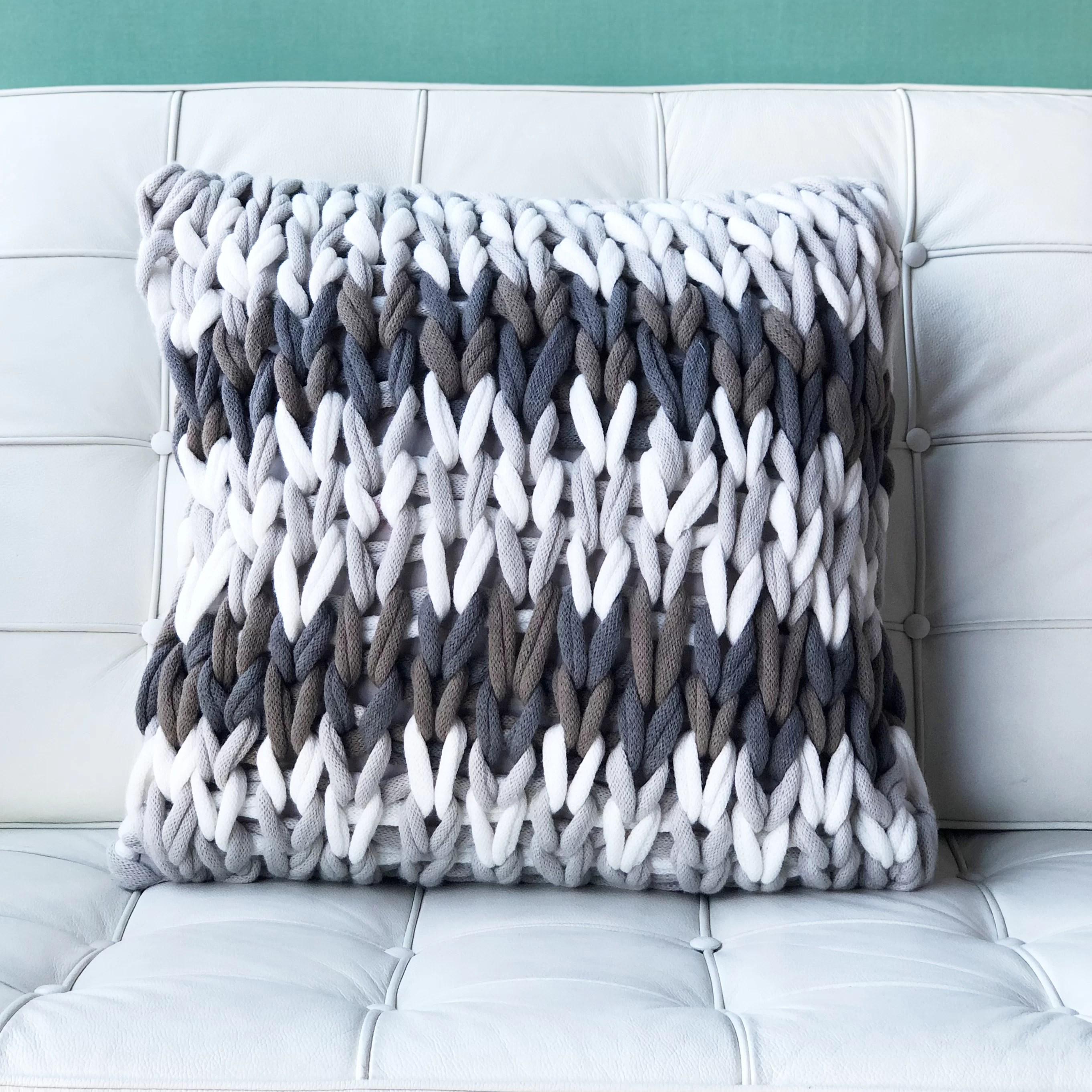 machado forest chunky knit throw pillow