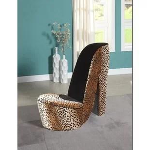 leopard high heel chair bungee accessories print wayfair bordertown side