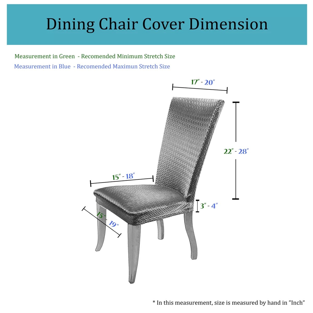 Dining Chair Dimensions Basket Weave Dining Chair Cover