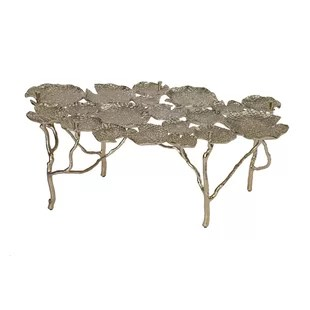 40 5 gold finish coffee table base only