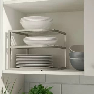 kitchen organizer inside cabinets storage you ll love prevatte corner cabinet rack